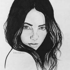 Porträt Graphit + Marker| портрет графит + маркер